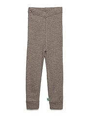 Wool leggings baby - WALNUT