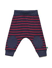 Stripe funky pants - NAVY/RED