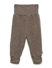 Wool fleece pants - WALNUT