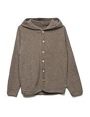 Wool fleece jacket - WALNUT