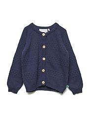 Knit cardigan baby - NAVY