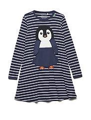 Penguin stripe dress - NAVY