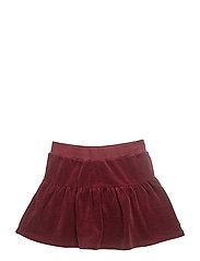 Velvet skirt - BORDEAUX