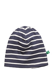 Stripe beanie - NAVY/CREAM