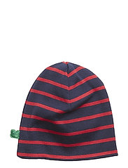 Stripe beanie - NAVY/RED