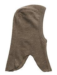 Wool fleece hat - WALNUT