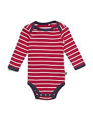 Stripe l/sl body - RED/CREAM