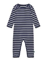 Stripe bodysuit - NAVY/CREAM