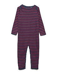 Stripe bodysuit - NAVY/RED