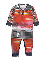 Firetruck photo bodysuit - NAVY