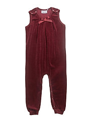 Velvet romper girl - BORDEAUX