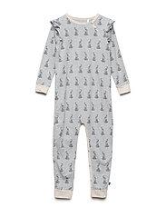 Rabbit bodysuit - PALE GREYMARL