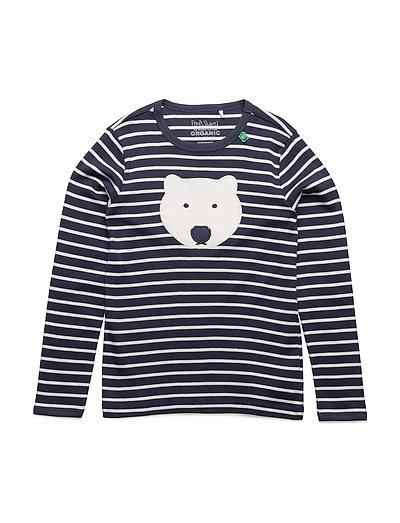 Bear stripe T - NAVY/CREAM