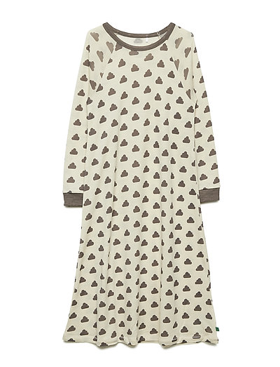 Wool sky nightdress - CREAM