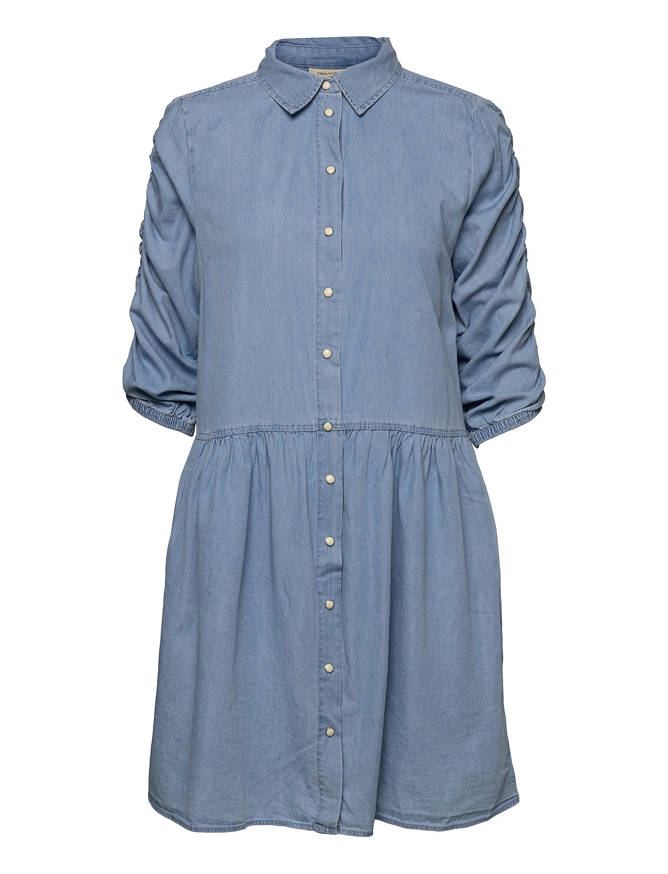 Fqbobby-Dr-Puff Dresses Everyday Dresses Blå FREE/QUENT