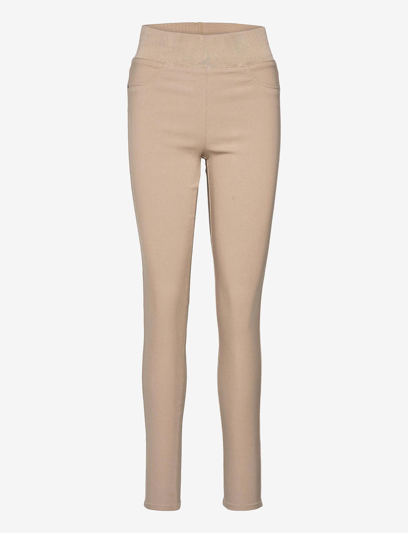 FREE/QUENT - FQSHANTAL-PA-POWER - broeken med skinny fit - beige sand as cut - 0