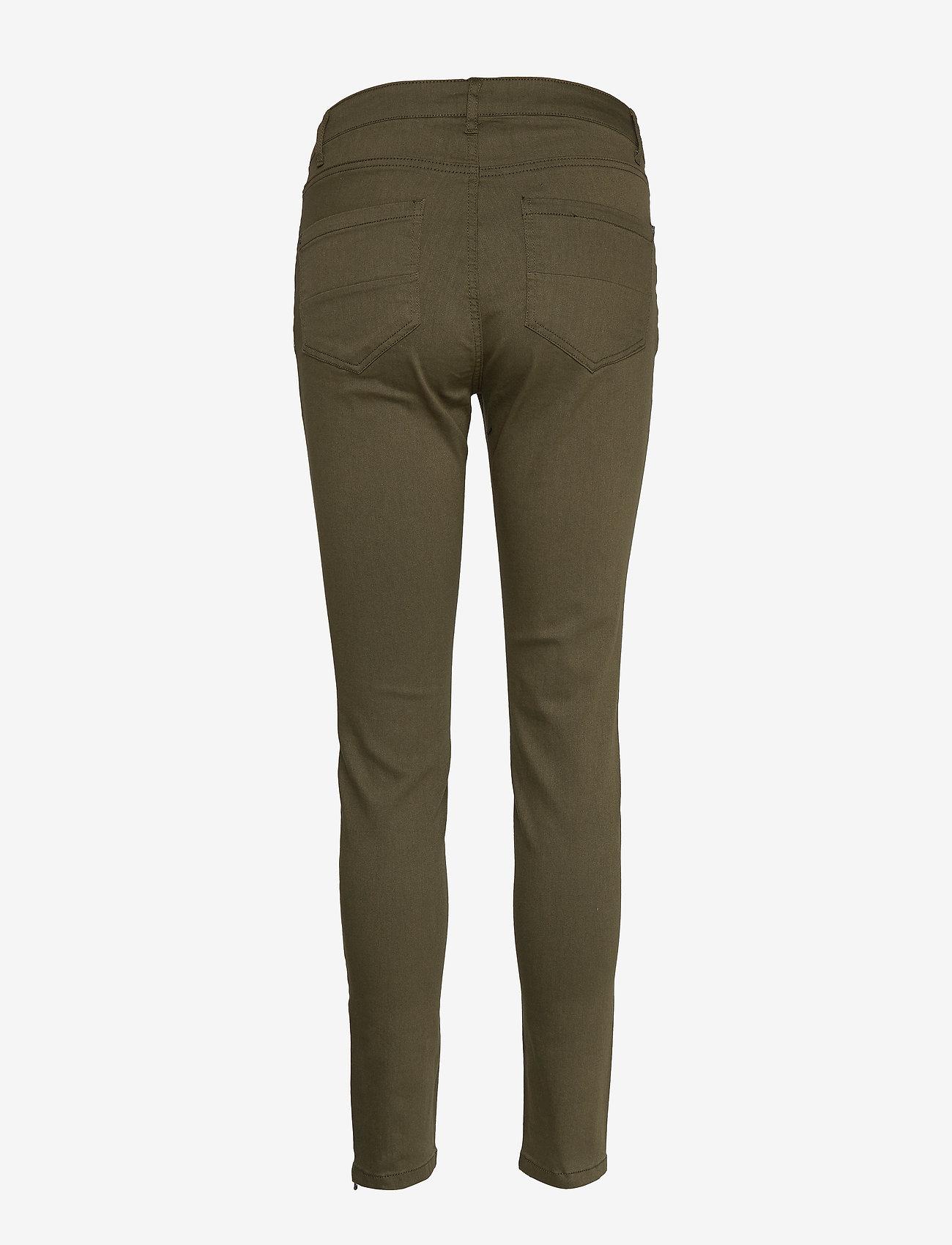 FREE/QUENT - FQAIDA-PA-7/8 - pantalons slim - olive night 19-0515 - 1