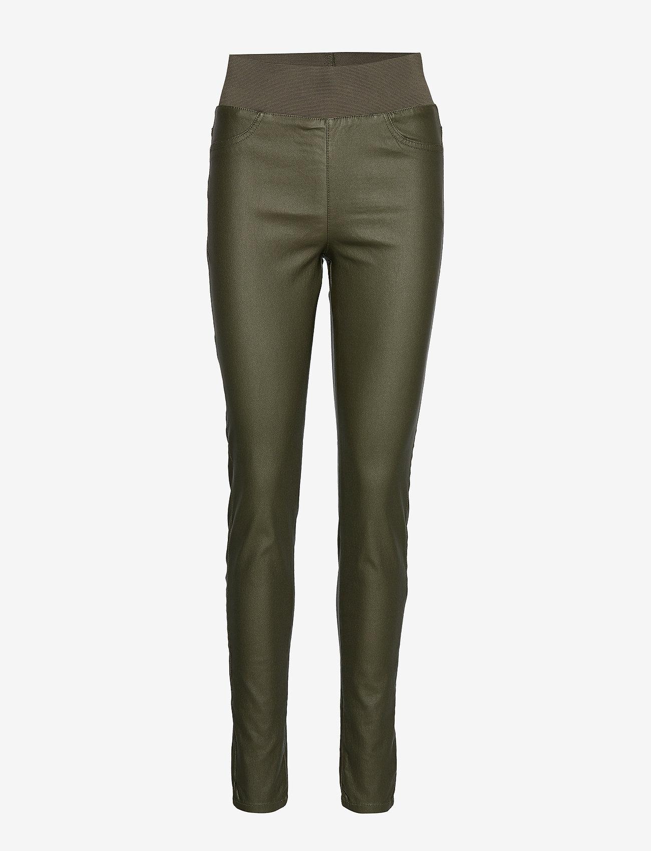 FREE/QUENT - SHANTAL-PA-COOPER - broeken med skinny fit - olive night 19-0515 - 0