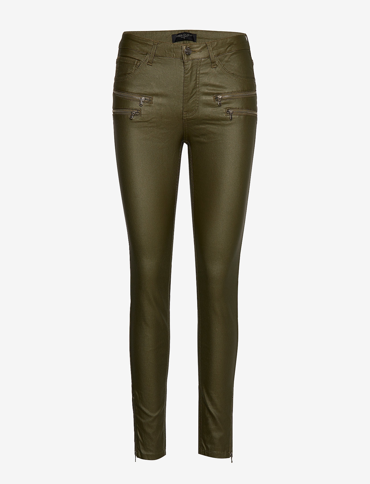 FREE/QUENT - AIDA-PA-7/8-COOPER - broeken med skinny fit - olive night 19-0515 - 0