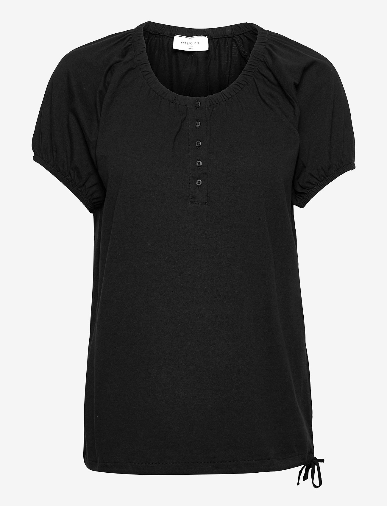 FREE/QUENT - BETINA-SS-SOLID - t-shirts - black - 0