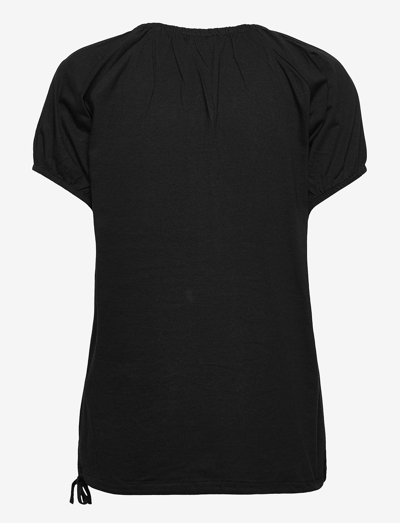FREE/QUENT - BETINA-SS-SOLID - t-shirts - black - 1
