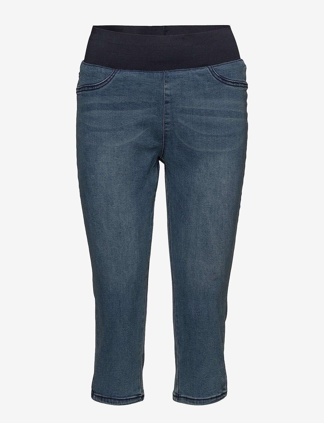 FREE/QUENT - SHANTAL-CA-DENIM - pantalons capri - medium blue denim - 0