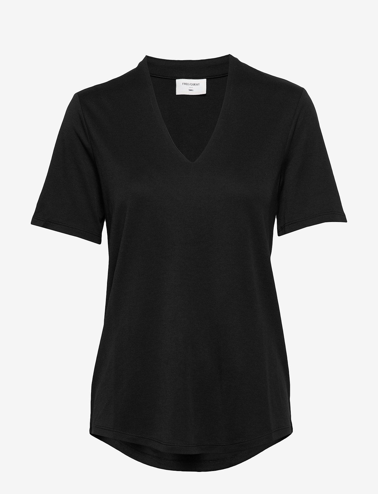 FREE/QUENT - FQYR-SS-BL - t-shirts - black - 0