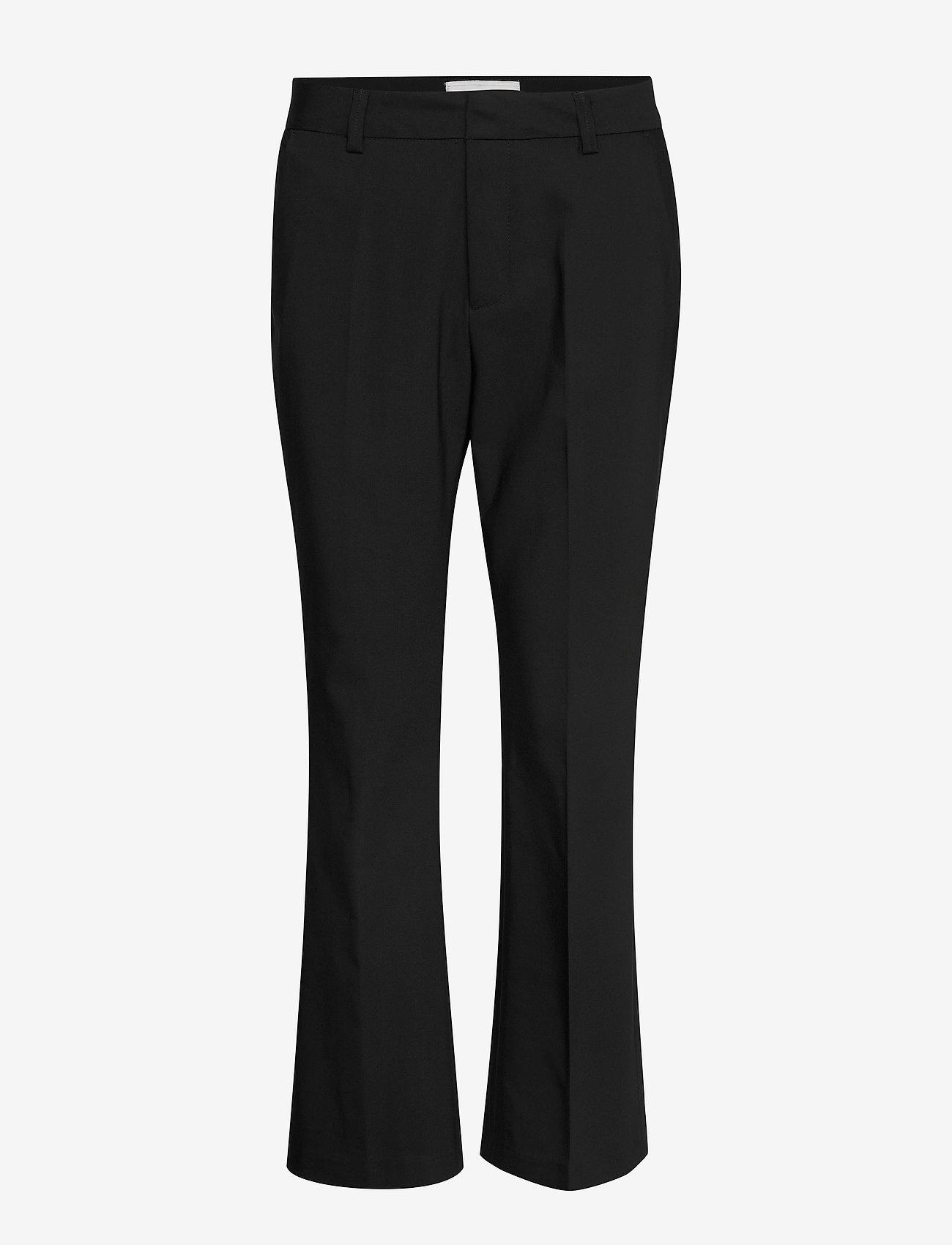 FREE/QUENT - FQISADORA-ANKLE-PA-BOOTCUT - bukser med brede ben - black - 0