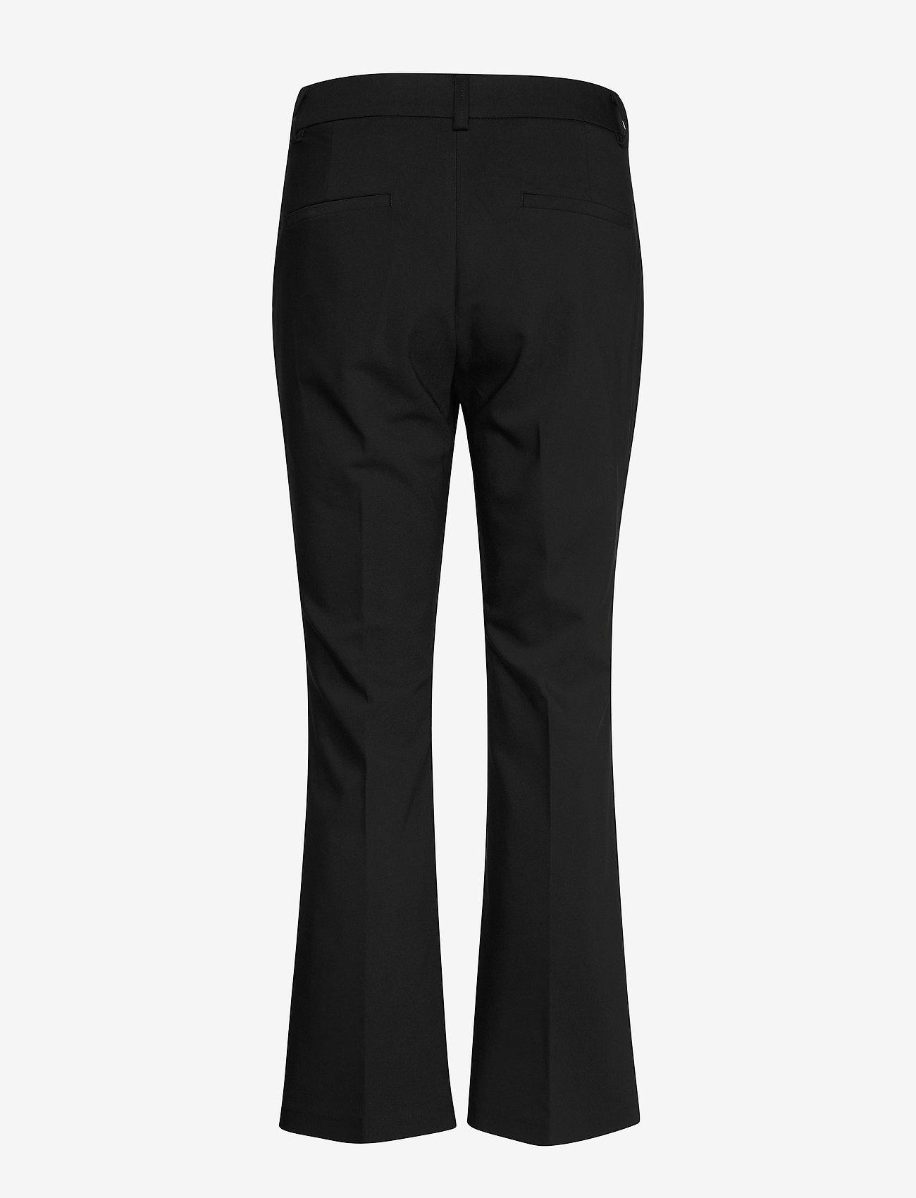 FREE/QUENT - FQISADORA-ANKLE-PA-BOOTCUT - bukser med brede ben - black - 1