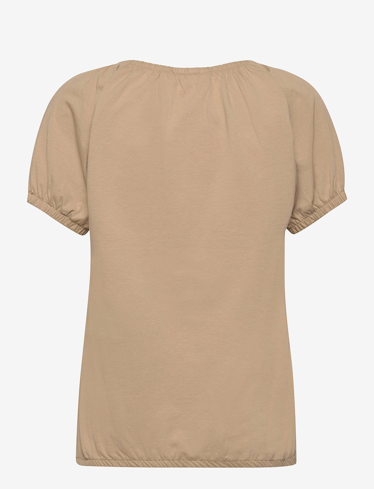 FREE/QUENT - BETINA-O-SS-SOLID - t-shirts - beige sand as cut - 1