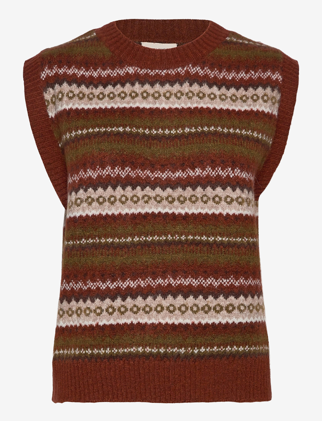 FREE/QUENT - FQBERSA-WA - knitted vests - arabian spice mix - 0