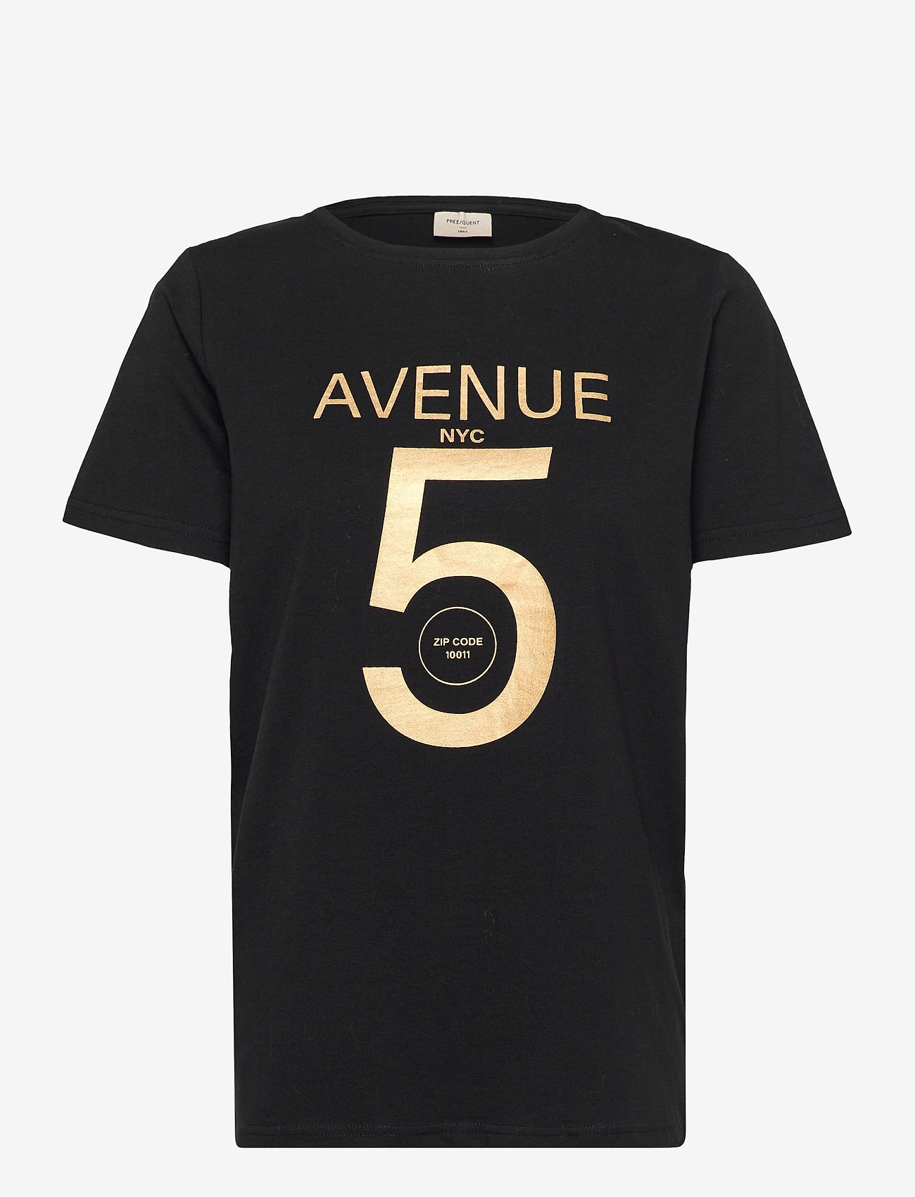 FREE/QUENT - FQANJA-TEE - t-shirts - black mix - 0