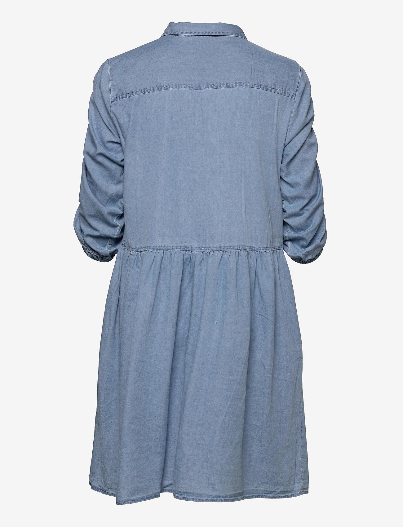 FREE/QUENT - FQBOBBY-DR-PUFF - zomerjurken - light blue denim - 1