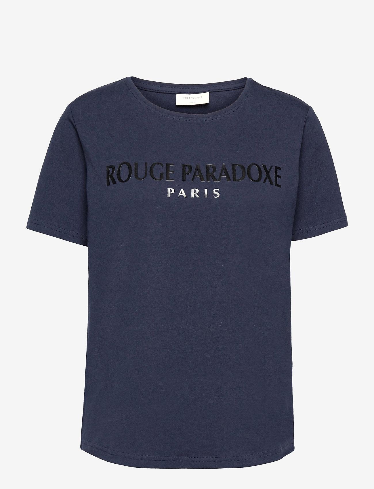 FREE/QUENT - FQHALLEY-TEE - t-shirts - navy blazer mix - 0