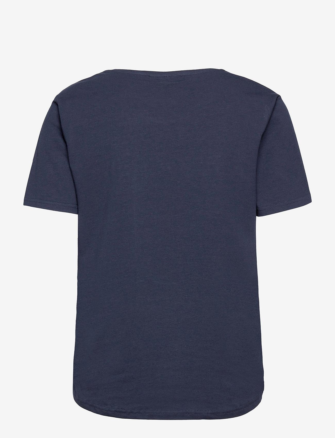 FREE/QUENT - FQHALLEY-TEE - t-shirts - navy blazer mix - 1