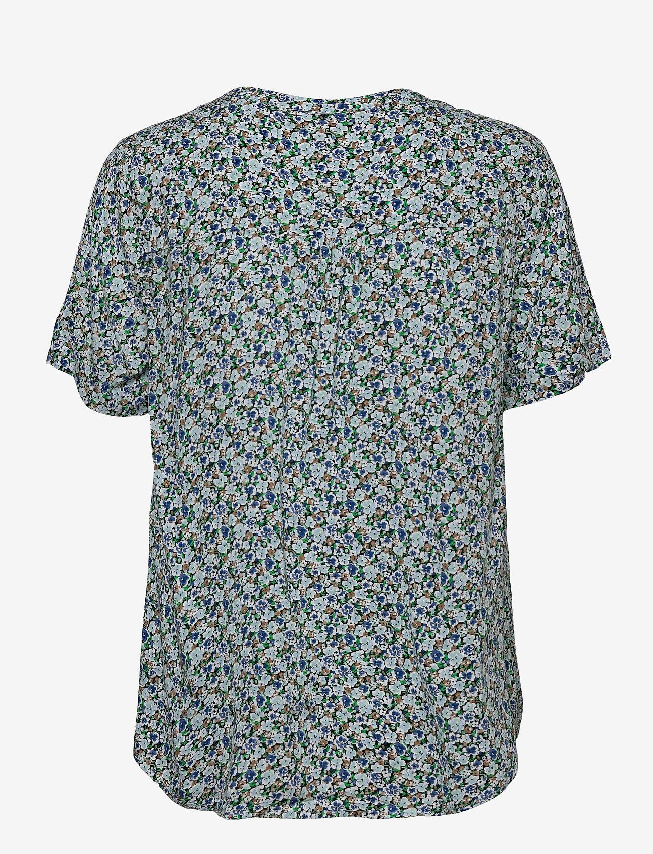 FREE/QUENT - FQADNEY-SS-BL-LUMI - blouses met korte mouwen - chambray blue mix - 1