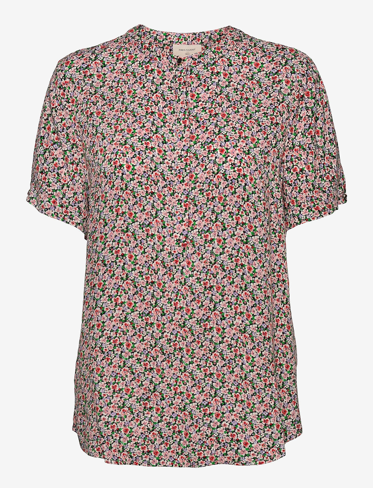 FREE/QUENT - FQADNEY-SS-BL-LUMI - blouses met korte mouwen - fresh salmon mix - 0
