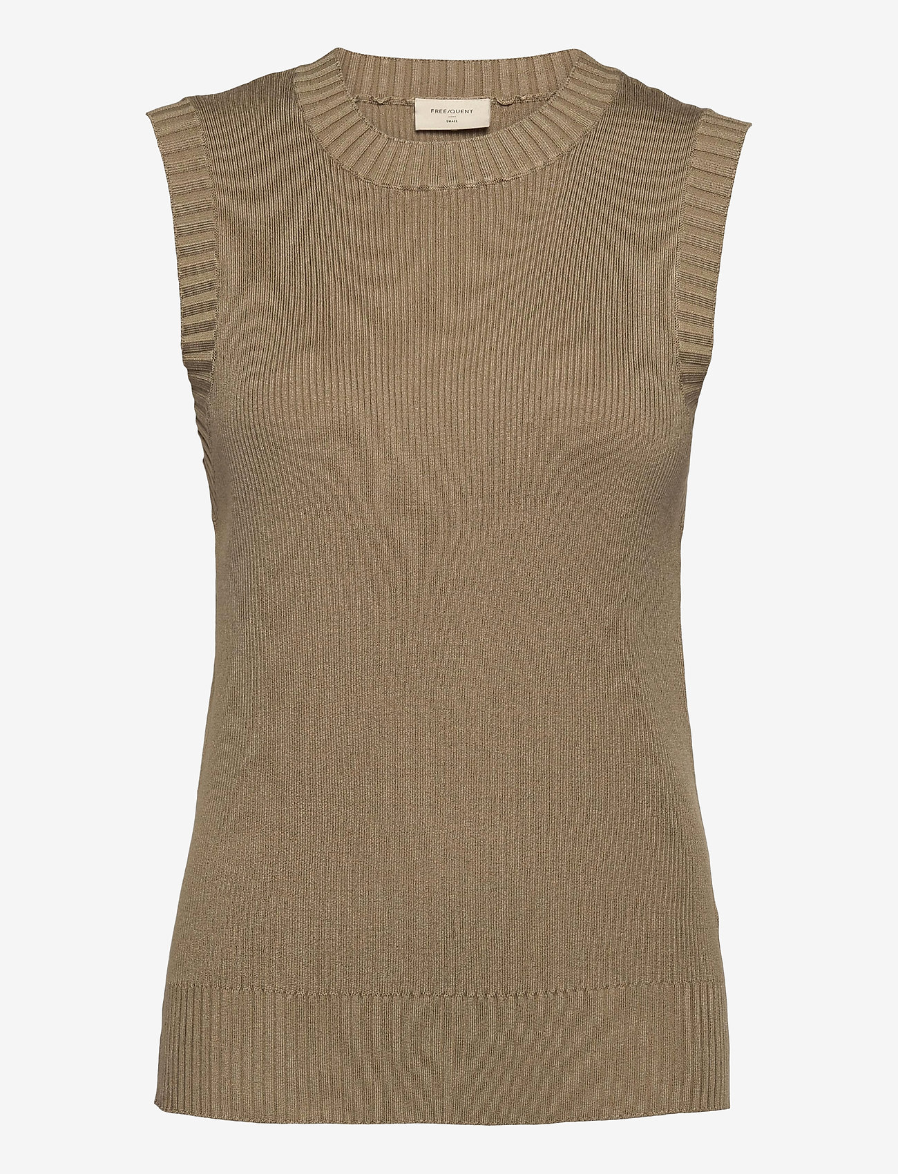 FREE/QUENT - FQLOVELY-WA - knitted vests - beige sand as cut - 0