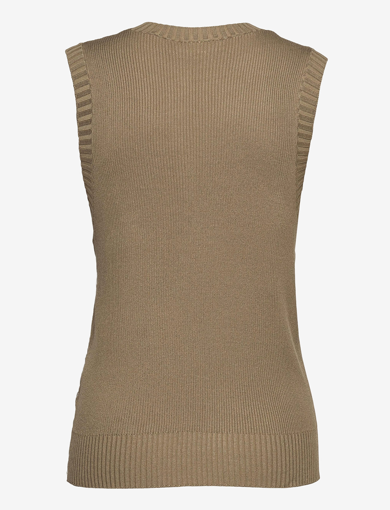 FREE/QUENT - FQLOVELY-WA - knitted vests - beige sand as cut - 1