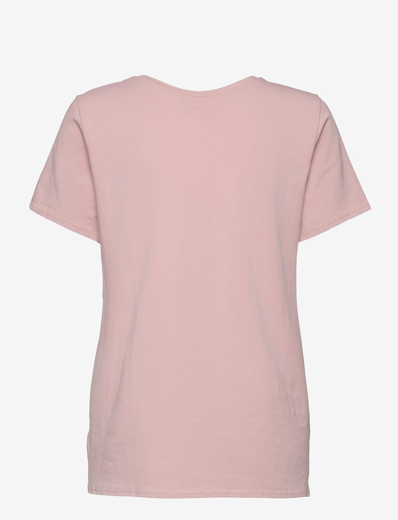 FREE/QUENT - FQNOLA-TEE - t-shirts - pale mauve mix - 1