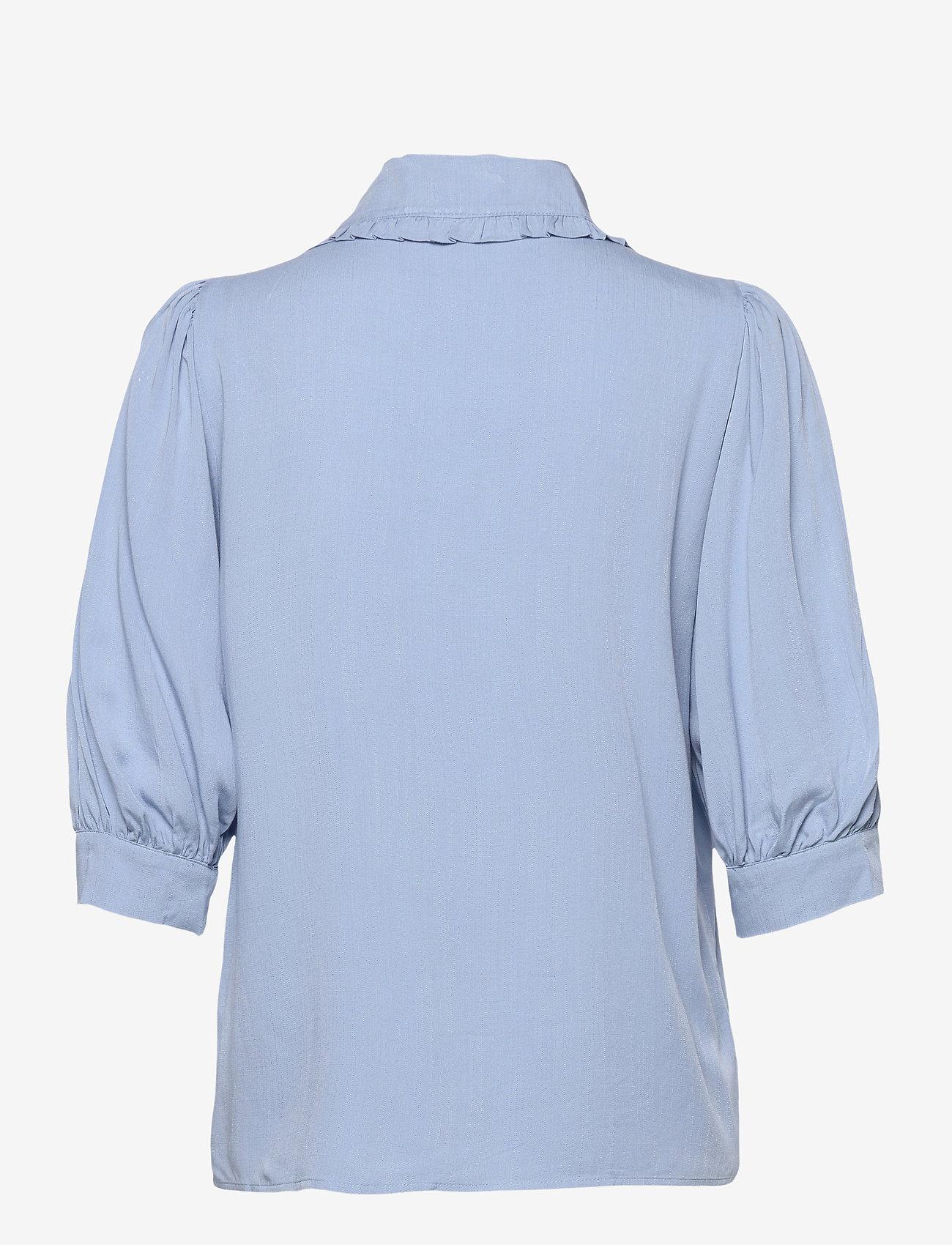 FREE/QUENT - FQELLENOR-SH - kortærmede bluser - chambray blue - 1