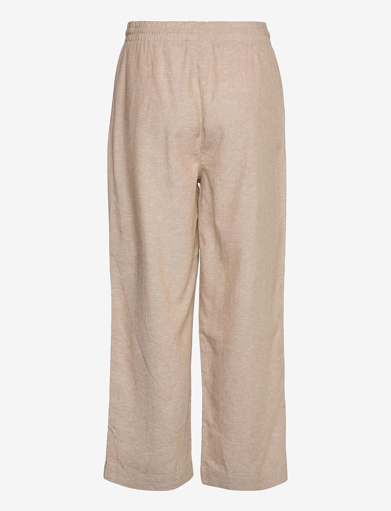 FREE/QUENT - FQLAVA-ANKLE-PA - bukser med brede ben - sand melange - 1