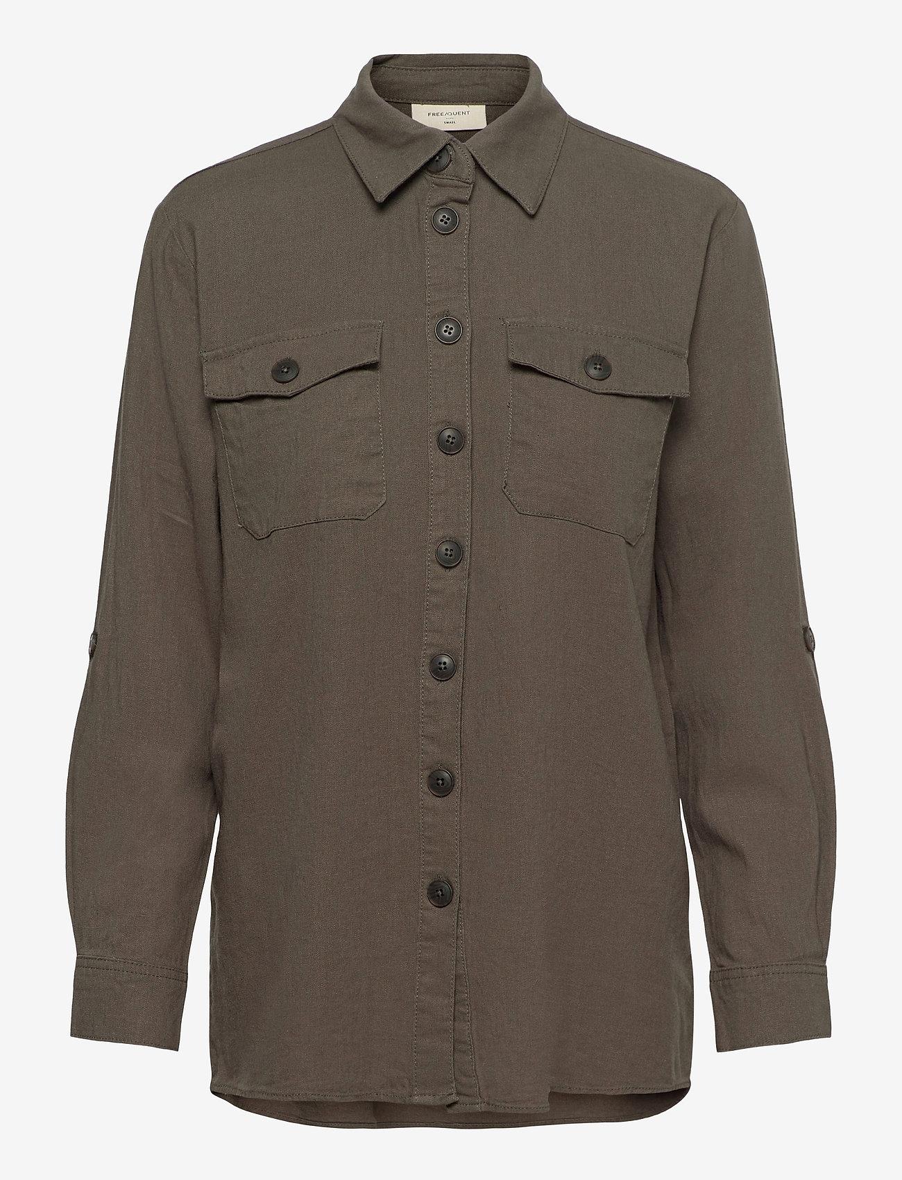 FREE/QUENT - FQLAVA-SH - langærmede skjorter - dusty olive - 0