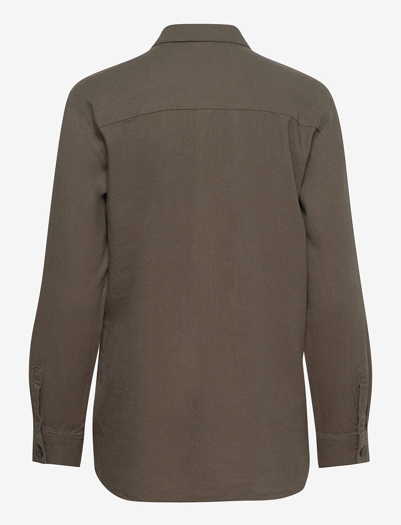 FREE/QUENT - FQLAVA-SH - langærmede skjorter - dusty olive - 1
