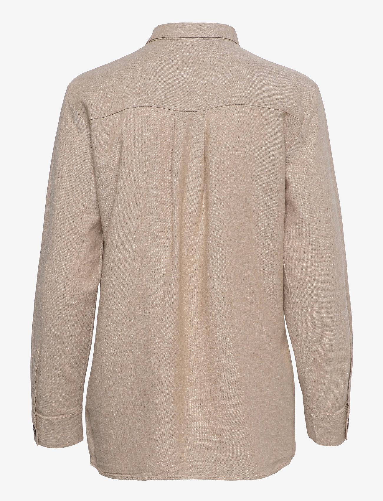 FREE/QUENT - FQLAVA-SH - langærmede skjorter - sand melange - 1