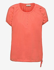 FREE/QUENT - BETINA-SS-SOLID - t-shirts - fresh salmon - 0
