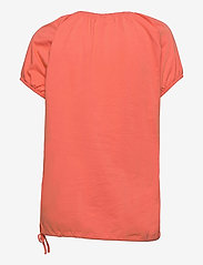 FREE/QUENT - BETINA-SS-SOLID - t-shirts - fresh salmon - 1