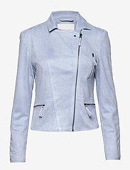 FREE/QUENT - BIRDIE-JA - skinnjakker - chambray blue 15-4030 tcx - 1