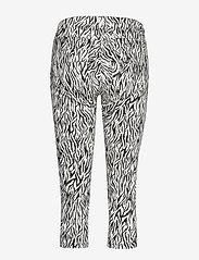 FREE/QUENT - AIDA-CA-NON ZIP-ZEBRI - pantalons capri - black mix - 1