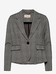 FREE/QUENT - FQNANNI-JA-POCKET-CHECK10 - getailleerde blazers - black mix as sample - 0
